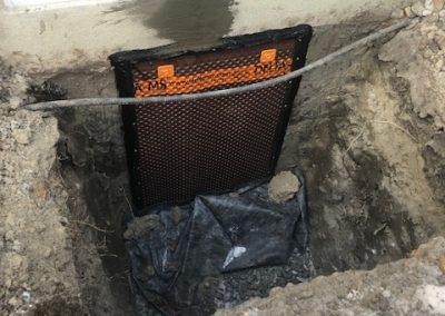 bas de la fondation après la réparation - réparation de fissure de fondation à Lavaltrie - Imperméabilisation GSV